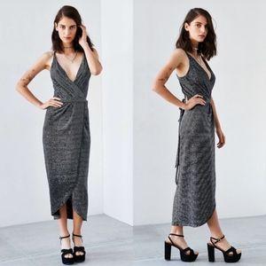 Bec & Bridge Magic Night Metallic Wrap Dress 6